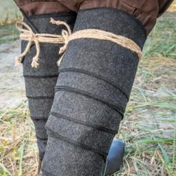 Wikinger Winingas Heringbone Motiv, schwarz