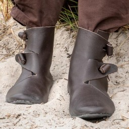 Viking shoes Jorvik with rubber sole, brown