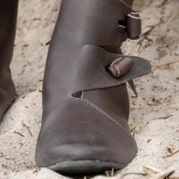 Viking schoenen Jorvik met rubber zool, bruin