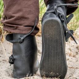 Vikingskor Jorvik med gummisula, svart