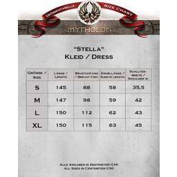 Medeltida klänning Stella, Black-Red