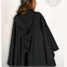 Mittelalterliche Kap Kim Wolle, schwarz