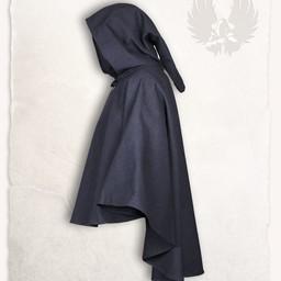 Medieval cape Kim wool, black