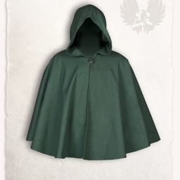 Medieval cape Kim wool, green