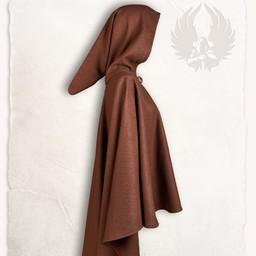 Medieval cape Kim wool, brown