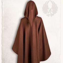 Middelalderlige cape kim uld, brun