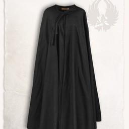 Middelalderlig cloak rudolf, sort
