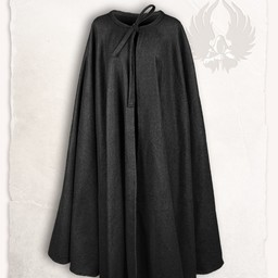 Capa medieval Rudolf Wool, Negro