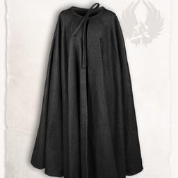 Middeleeuwse mantel Rudolf wol, zwart