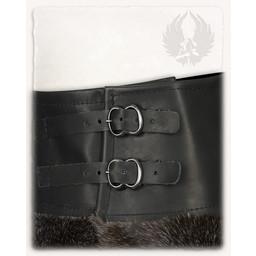 Karya fur skirt, black