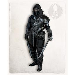 Geralt armbeschermer voor werpmessen, zwart, rechts