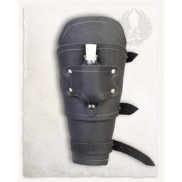 Geralt armbeschermer voor werpmessen, bruin, rechts