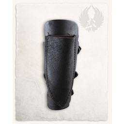 Geralt vambrace for throwing knives, brown, right