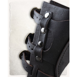 Geralt armbeschermer voor werpmessen, bruin, links