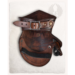 Decius gauntlets leather, brown