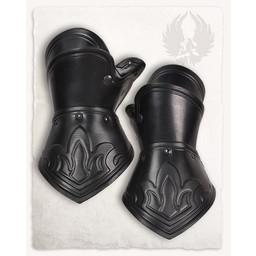 Decius pantserhandschoenen leer, zwart