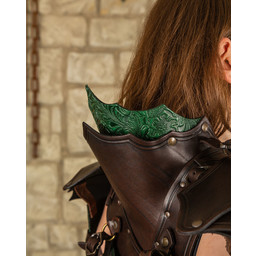 Leather ladies armor Morgana, brown-green