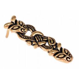 Viking belt end Borre, 1 cm (bronze)
