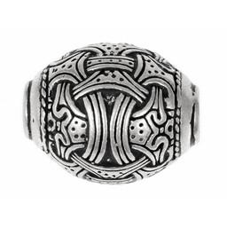 Viking bead Jellinge, silver-plated