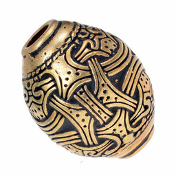 Viking bead Jellinge, bronze