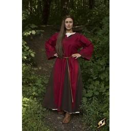 Vikingekjole Astrid, rød/brun