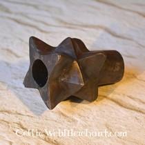 Burgschneider Chaperon herringbone motif Knud, olive grey