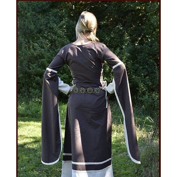 Middelalder Dress Dorothee, brun / naturlig farvet