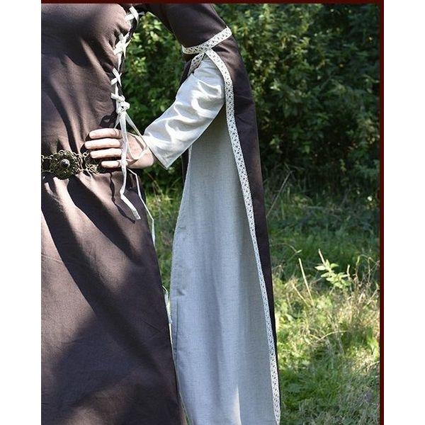 Medievais vestido Dorothee, castanho / de cor natural