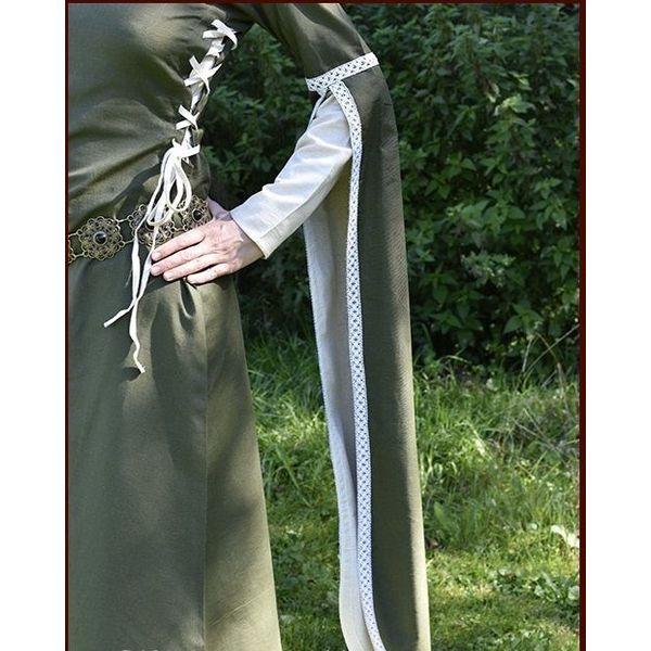 Medieval Dress Dorothee, olive/natural