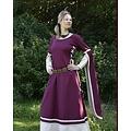 Robe médiévale Dorothee, bordeaux / couleur naturelle
