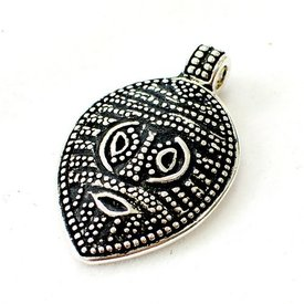 Amuleto di maschera vichinga Gotland, argentato