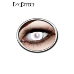 Farbige Kontaktlinsen Blinde weiß, LARP-Zubehör