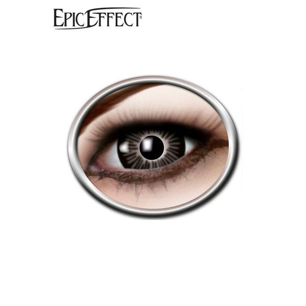 Epic Armoury Coloured Big Eye Contact Lenses Black, LARP Accessory