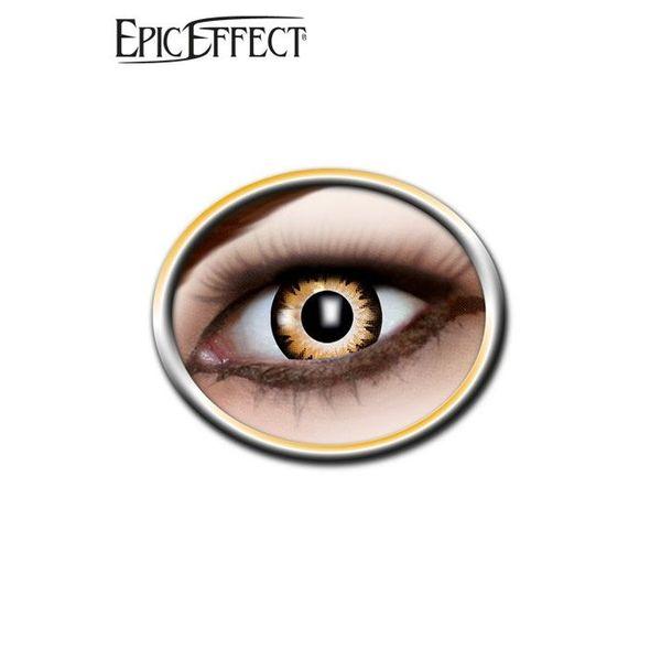Epic Armoury Gekleurde contactlenzen bruin/zwart, LARP accessoir