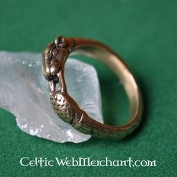 Viking Ring mit Hound Heads, Bronze