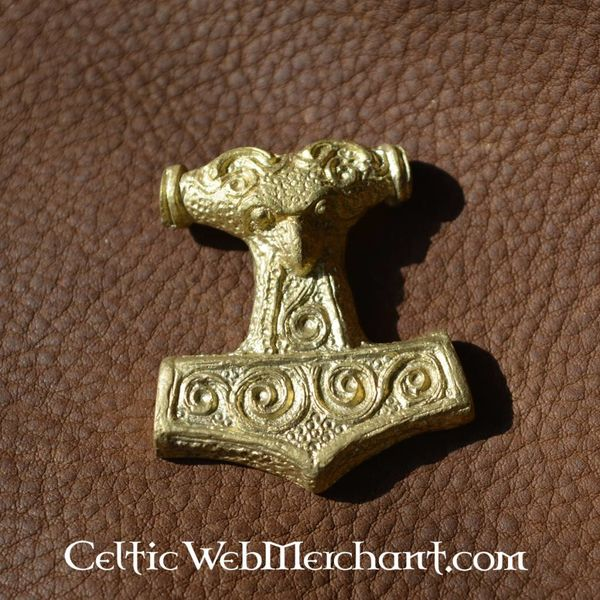 Deepeeka Skane Thors hammer, brass