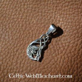 Pendentif argenté du Celtic Kelpie