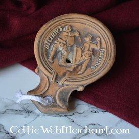 Lampe à huile  romaine, Gladiateur Decirivs-Bibius