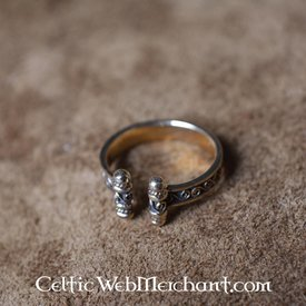Viking Ring mit Spiralen, Bronze