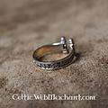 Viking Ring med spiraler, brons