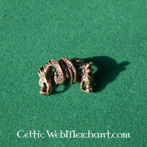 Dragen skæg perle bronze