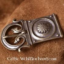 Hebilla de cinturón clásica tardía, plateada