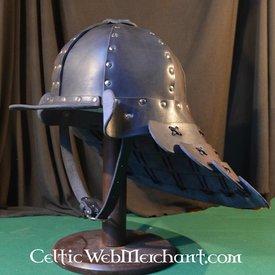 Läder samurai helmet