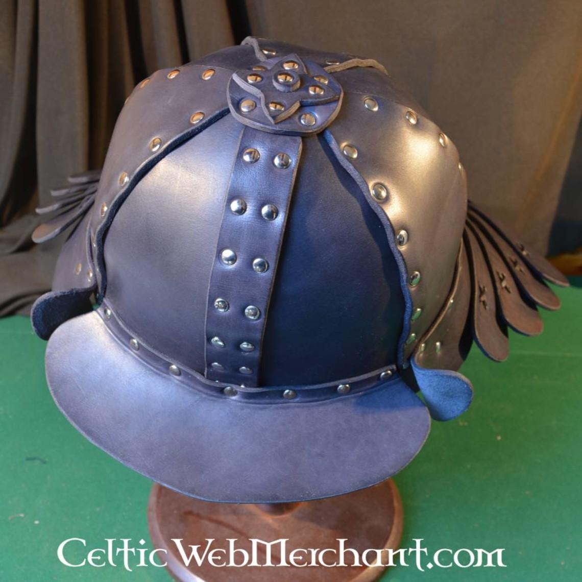 Leder Samurai Helm