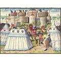 Medieval Herold tienda de 3 x 3 m