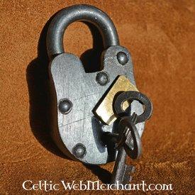 cadeado medieval com duas chaves