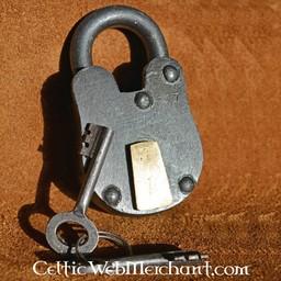 Średniowieczna kłódka z dwoma kluczami