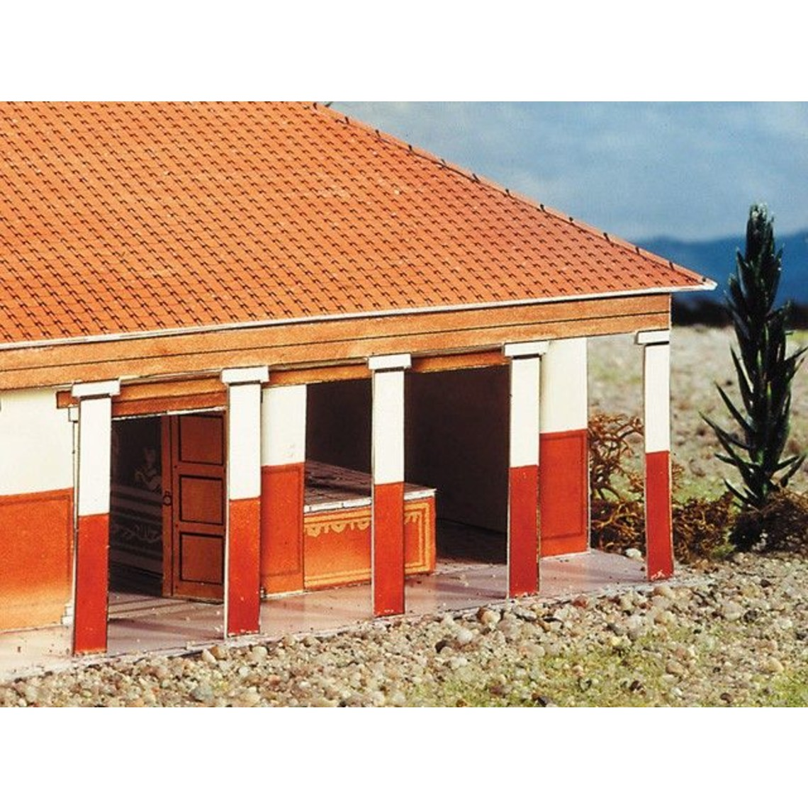 Model byggesæt romersk villa