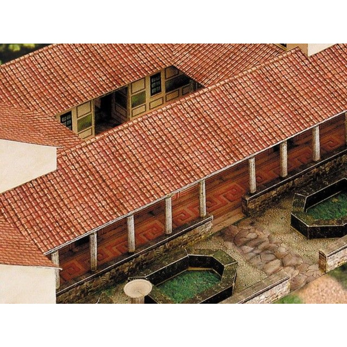Papier modèle villa rustica