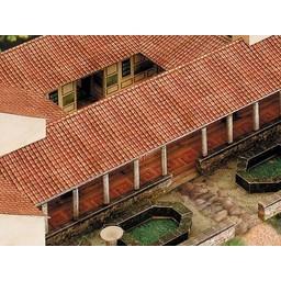 Carta modello di villa rustica